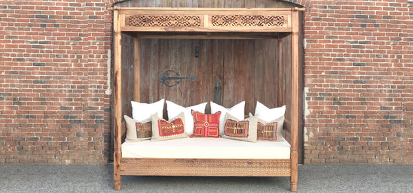 Gracefully Carved Andalus Canopy Daybed