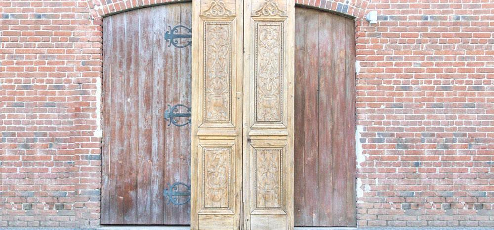 19th Century Indo French Tall Doors