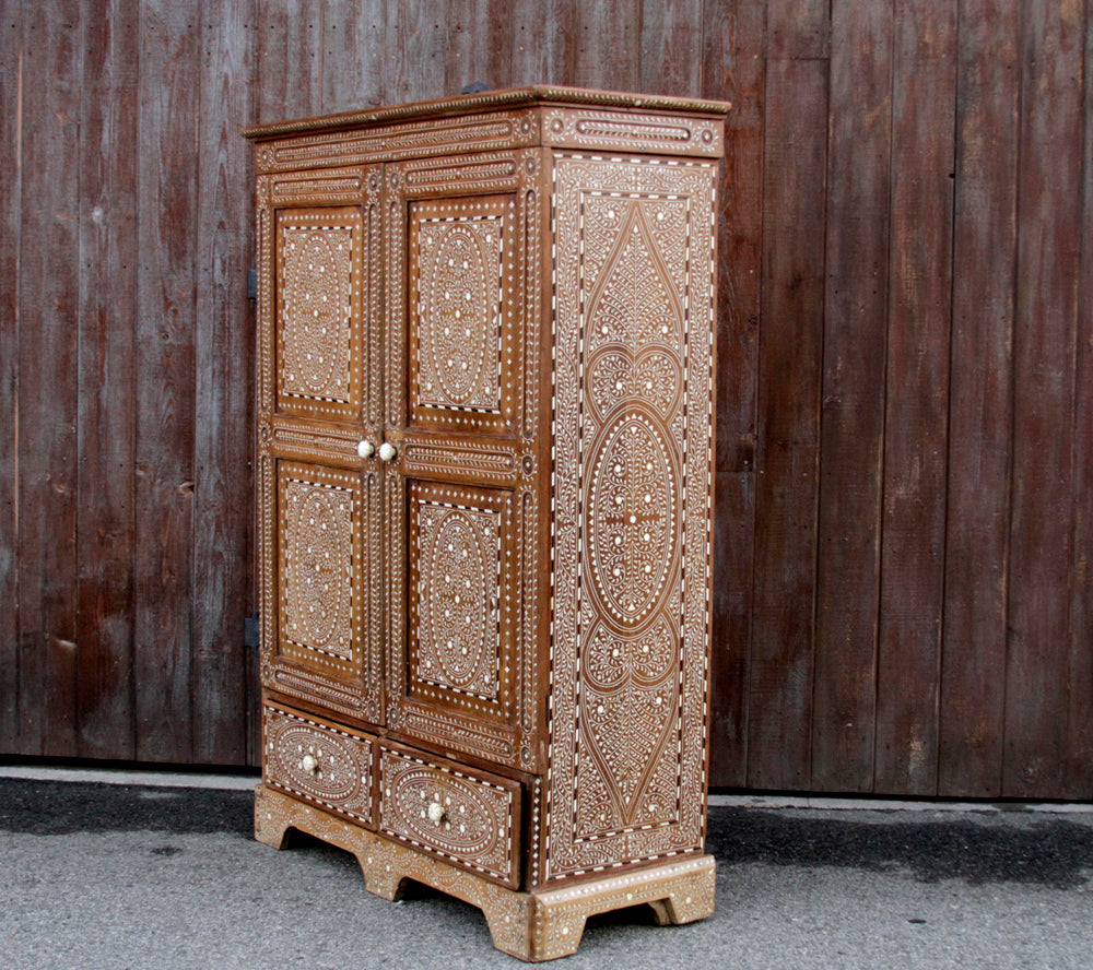 Anglo Bone Inlay Armoire