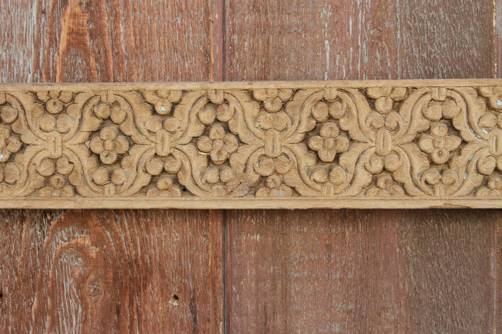 Jasmine Wood Carved Panel