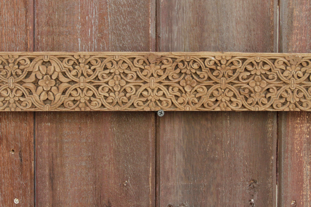 Bougainvillea Wooden Carved Panel