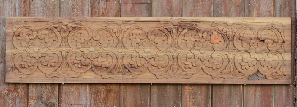 Floral Medallion Carved Panel