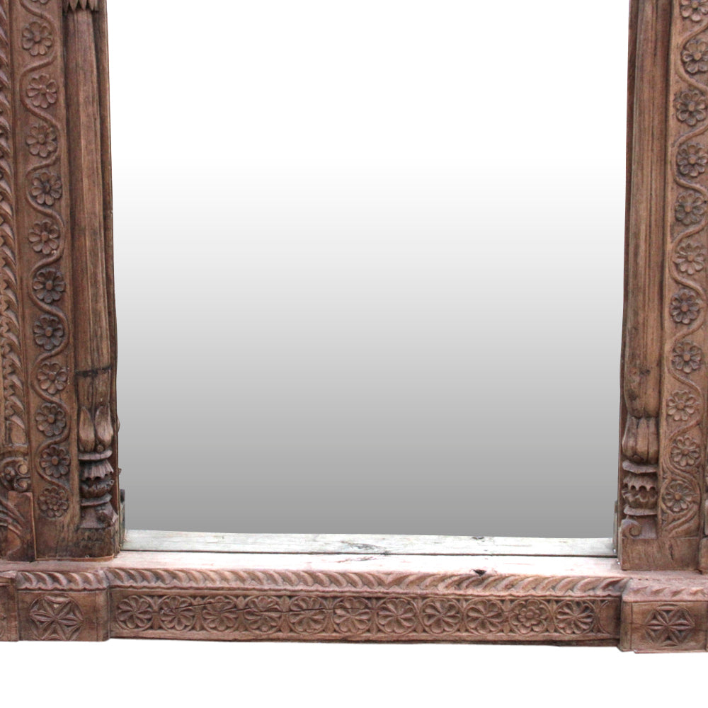 Fantastic 19th Century Carved Floor Mirror | DE-COR | Globally Inspired