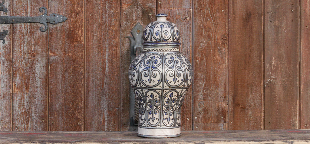Adilah Moroccan Ginger Jar With Lid