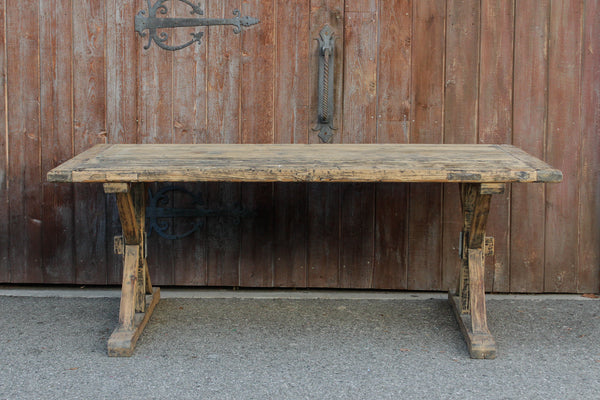 Reconstructed Trestle Dining Table