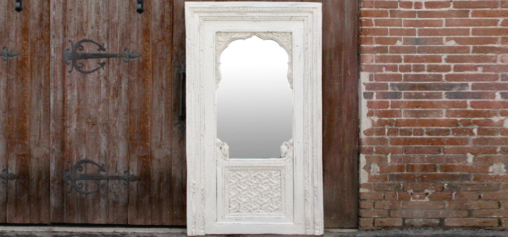 Raipur Jarokha Carved Mirror
