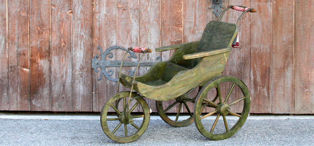 Antique wooden stroller