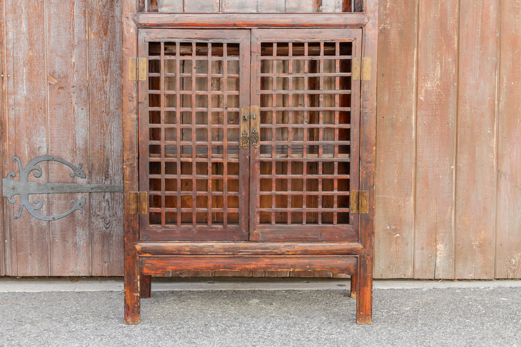 19th Century Chinese Lattice Cabinet