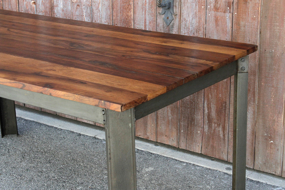 Sleek Industrial Style Dining Table