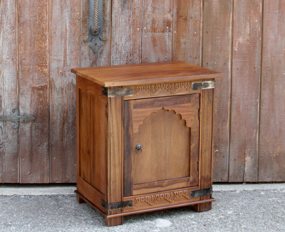 Jharoka Carved Nightstand Cabinet
