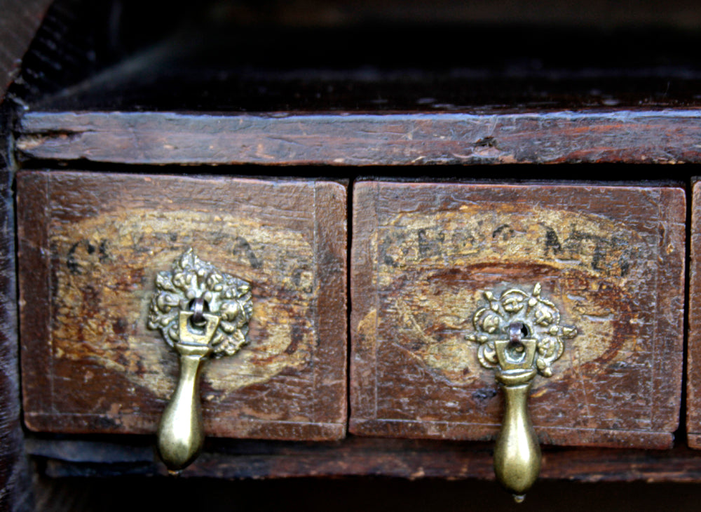 18th Century Apothecary Box On Stand