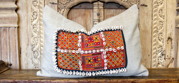 Dabeet Jumlo Embroidered Shell Pillow