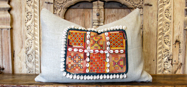 Eliad Jumlo Embroidered Shell Pillow