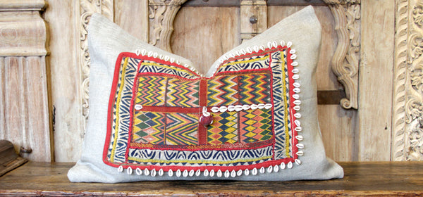 Jaamil Jumlo Embroidered Shell Pillow
