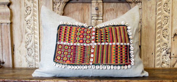 Ubika Jumlo Embroidered Shell Pillow