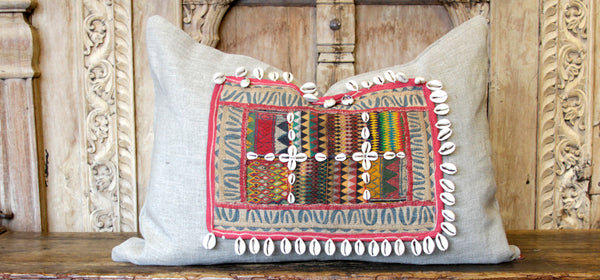 Wasifi Jumlo Embroidered Shell Pillow