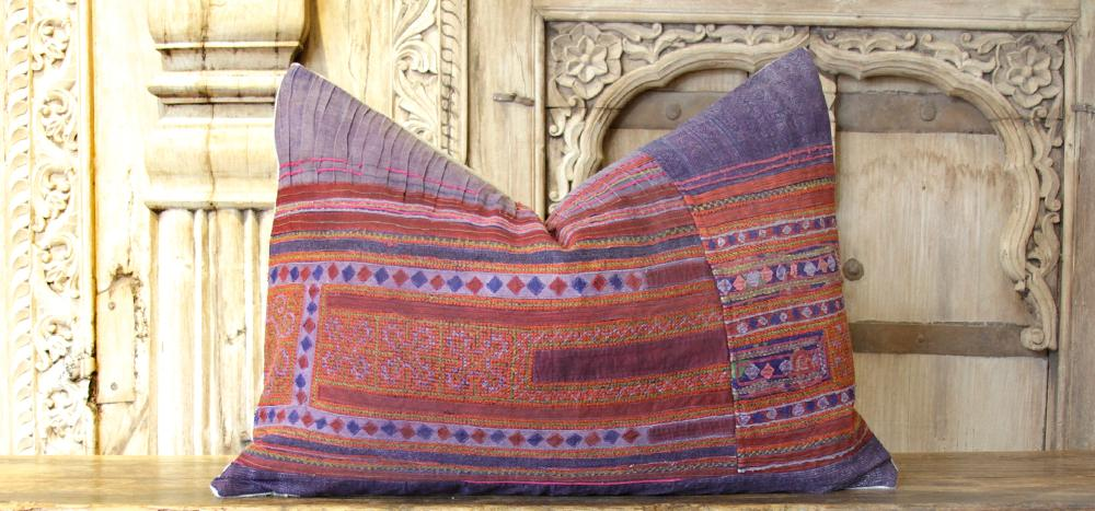 Patchwork Hmong Hill Tribe Pillow (Trade)