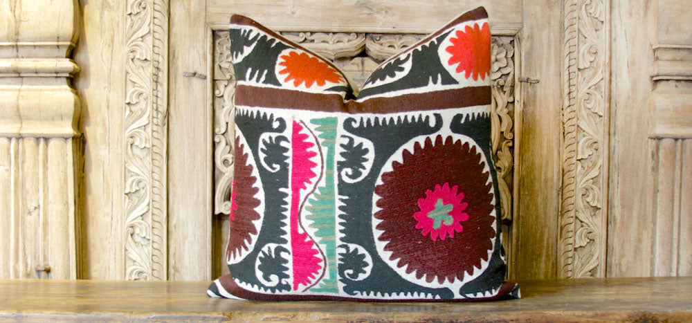 Mandala Suzani Square Pillow
