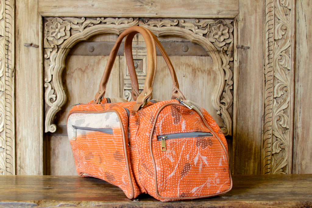 Fall Bengal Kantha Bag