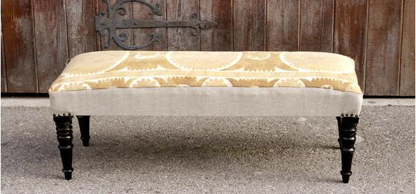 Golden Suzani Bench