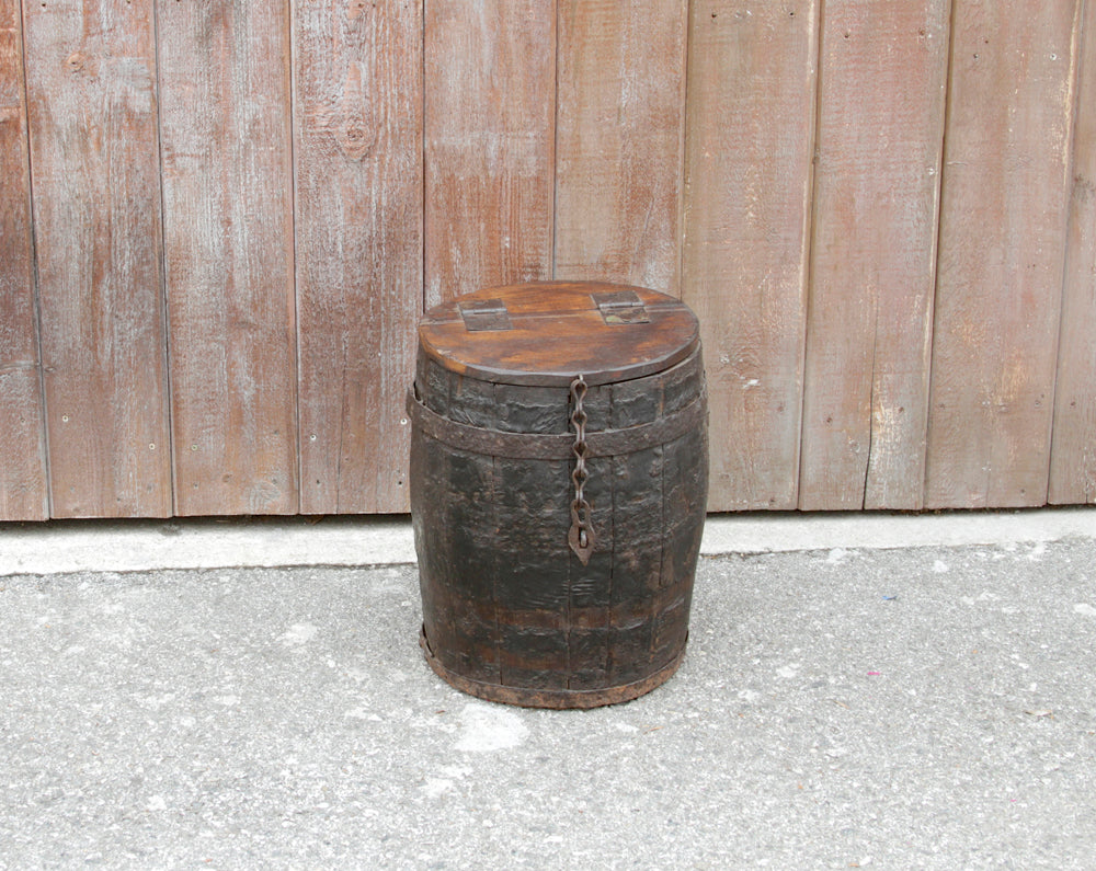 Grain Barrel Side Table