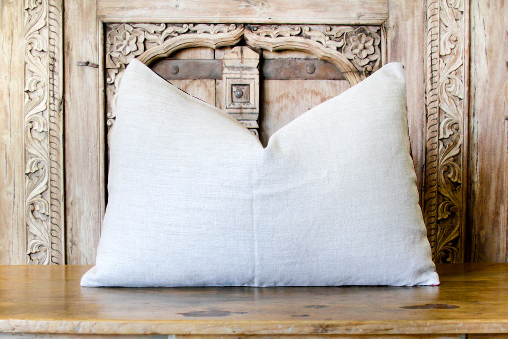 Brijabala Antique Suzani Lumbar Pillow