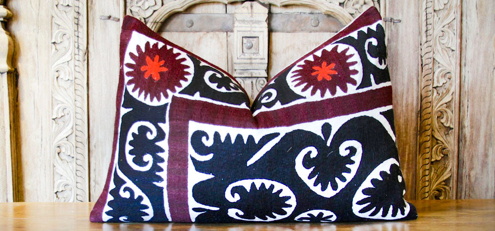 Rabia Antique Suzani Lumbar Pillow