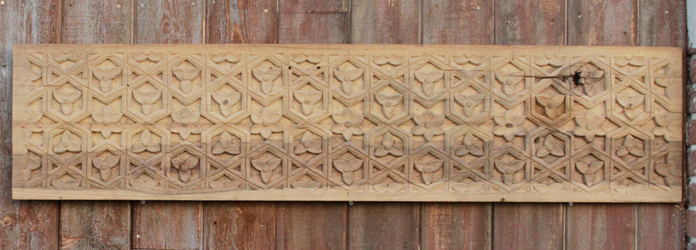 Natural Moorish Star Carved Panel