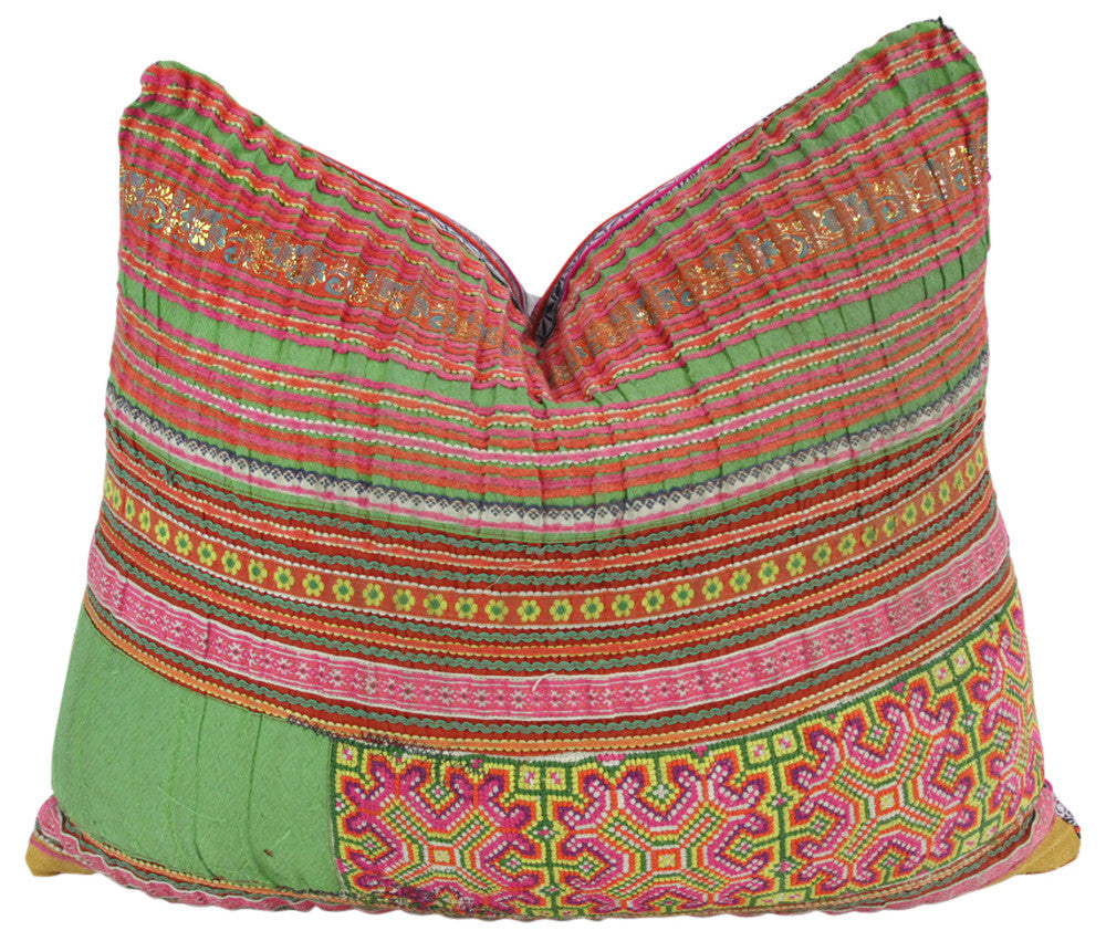 Small Square Hmong Hill Tribe Pillow