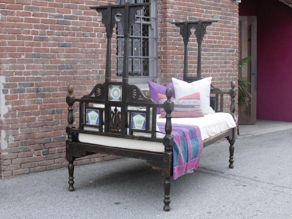 Antique Indo Dutch Daybed w/ Lustrous Patina