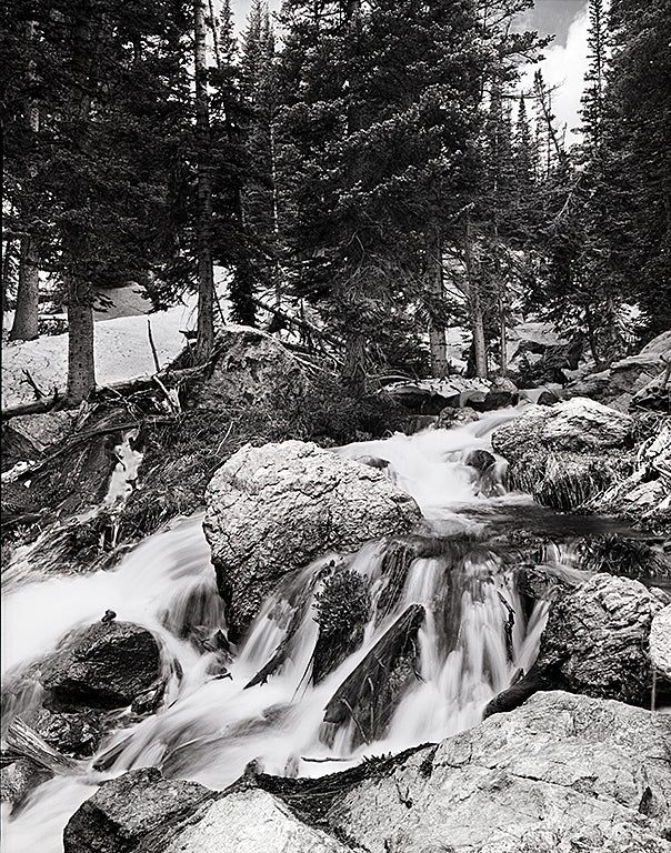 "Cascades From Dream Lake - 11""x14"" Fuji Flex SuperGloss Print"