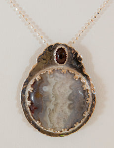 Agate and Garnet pendant