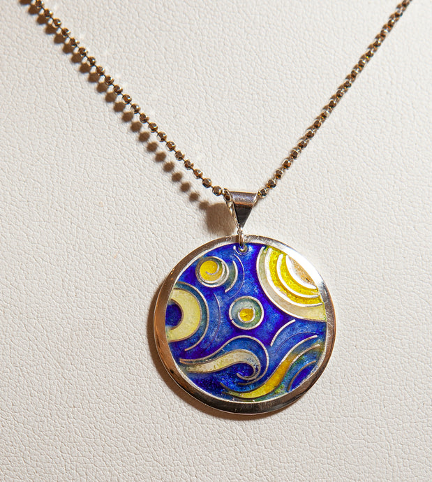Starry, Starry Night Cloisonne Pendant