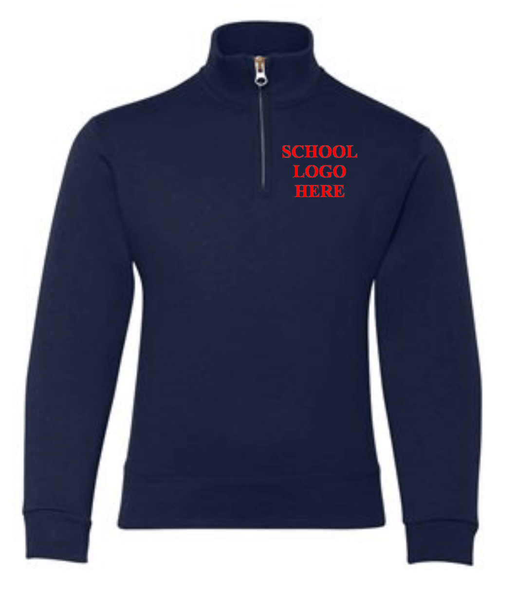 Mater Academy School Uniform 1/4 Zip Navy Sweatshirt