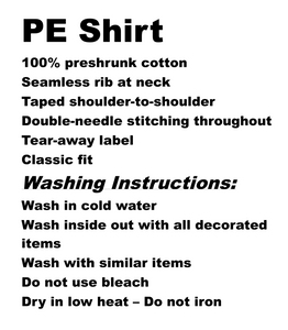Mendive PE Shirt and washing instructions