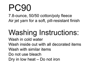 Mariposa School Crewneck and washing instructions