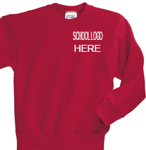 Load image into Gallery viewer, Mariposa Red Crewneck Sweatshirt School Uniform
