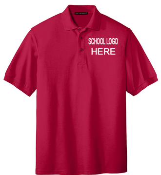 Mariposa Academy Red Polo School Uniform