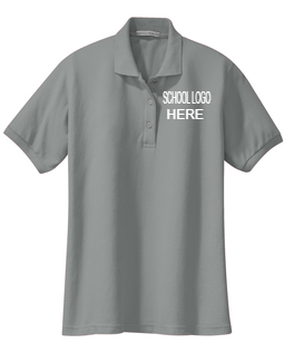 Mendive Cool Grey Female and Youth School Polo