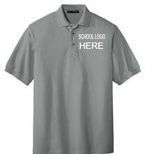 Load image into Gallery viewer, Mendive Cool Grey Male and Youth School Polo