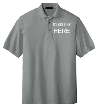 Mendive Cool Grey Male and Youth School Polo
