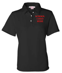 Reed Women's Black Poly Polo