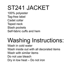 Load image into Gallery viewer, Swope Jacket and washing instructions