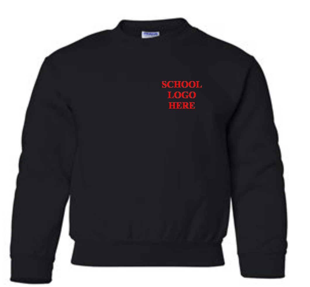 Sparks Middle School Uniform - Black Crewneck sweatshirt