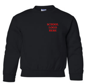 Cold Springs Black Crewneck School Uniform