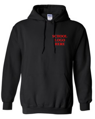 Virginia Palmer School Uniform Black Hood Sweatshirt
