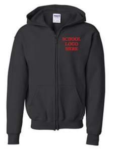 Virginia Palmer Black Zipper Sweatshirt school uniform