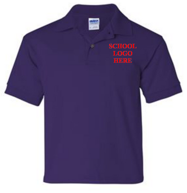 Virginia Palmer Purple Polo School Uniform