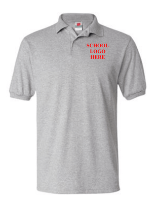 Robert Mitchell School Uniform Sport Grey Polo