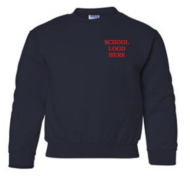 Vaughn Navy Crewneck Sweatshirt